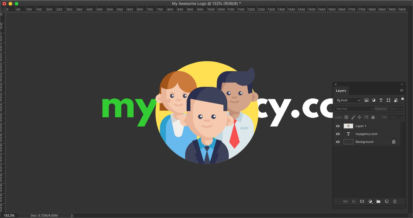 15-1 - How to make a logo in Photoshop in 4 minutes