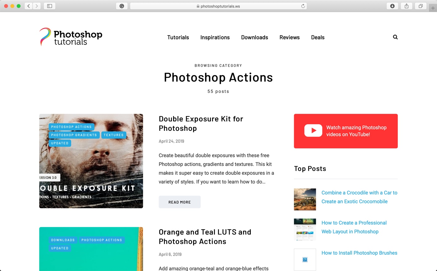 2-4 - Best 10 Sites to Download Free Photoshop Actions