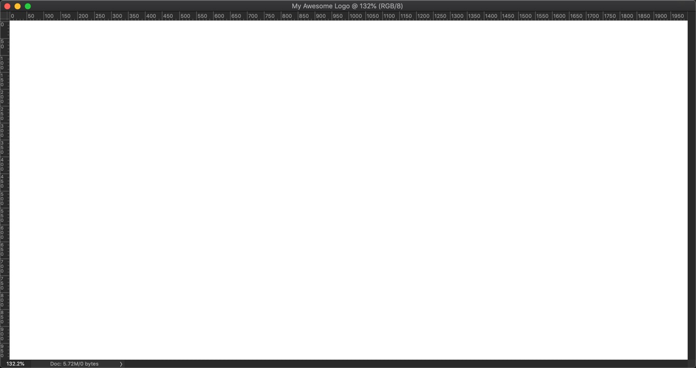 3-1 - How to make a logo in Photoshop in 4 minutes