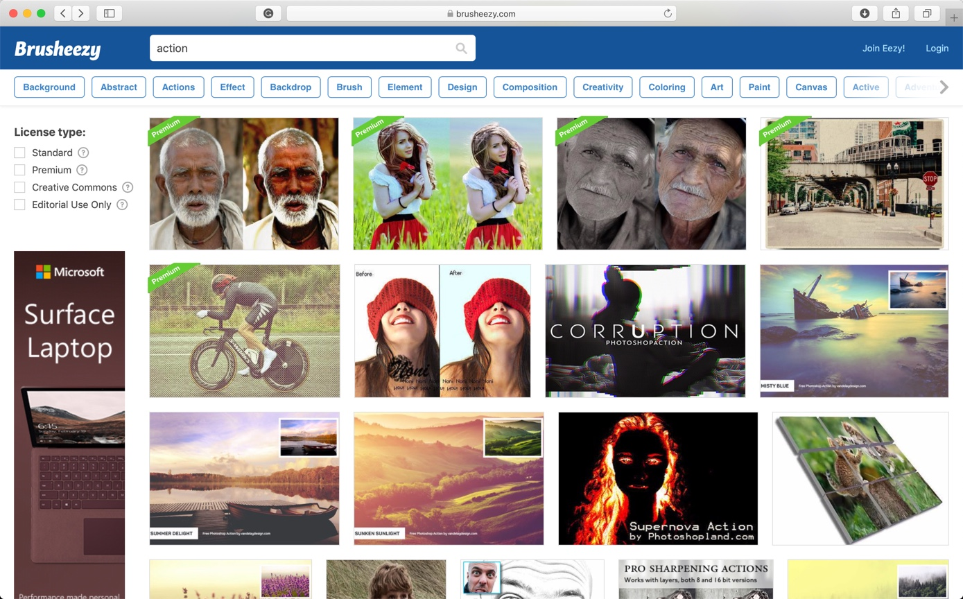 3-4 - Best 10 Sites to Download Free Photoshop Actions