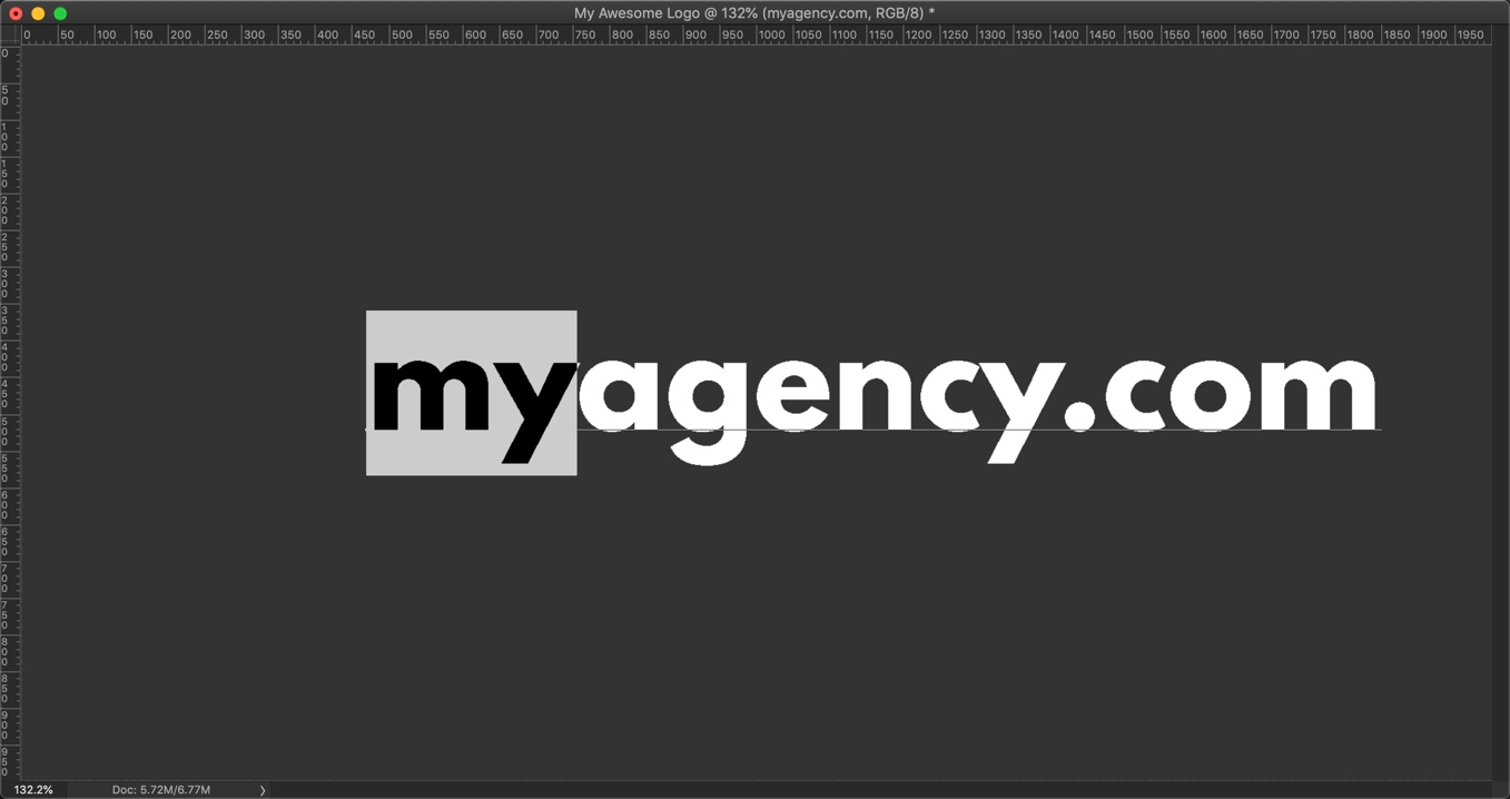 9-1 - How to make a logo in Photoshop in 4 minutes