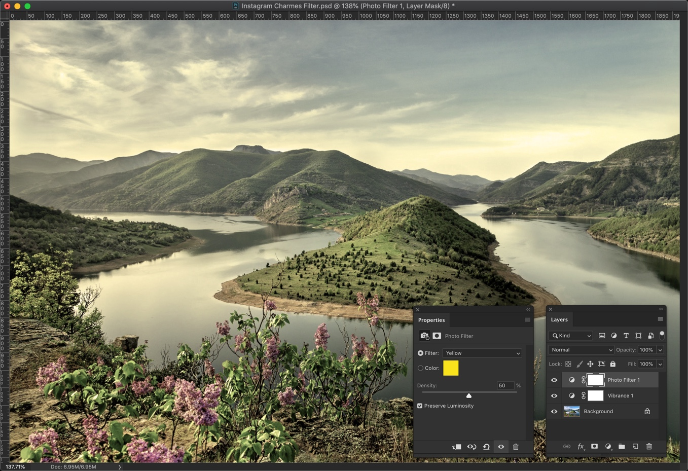 3-1 - Create Instagram Charmes Filter in Photoshop [Action Included]