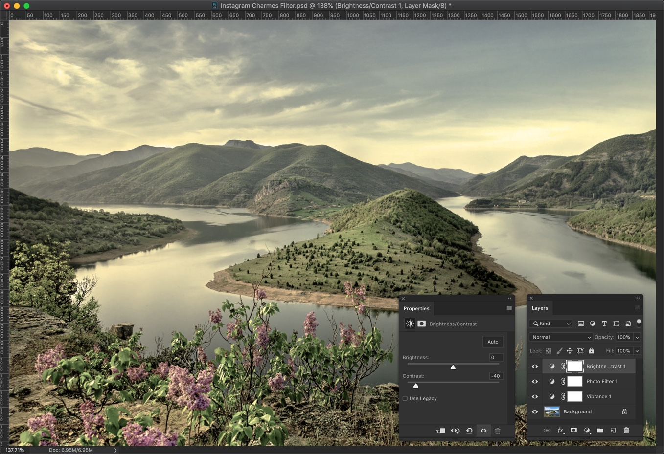 5-1 - Create Instagram Charmes Filter in Photoshop [Action Included]