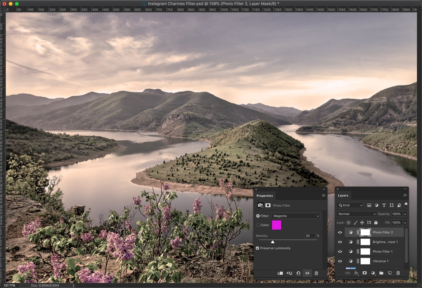 7-1 - Create Instagram Charmes Filter in Photoshop [Action Included]
