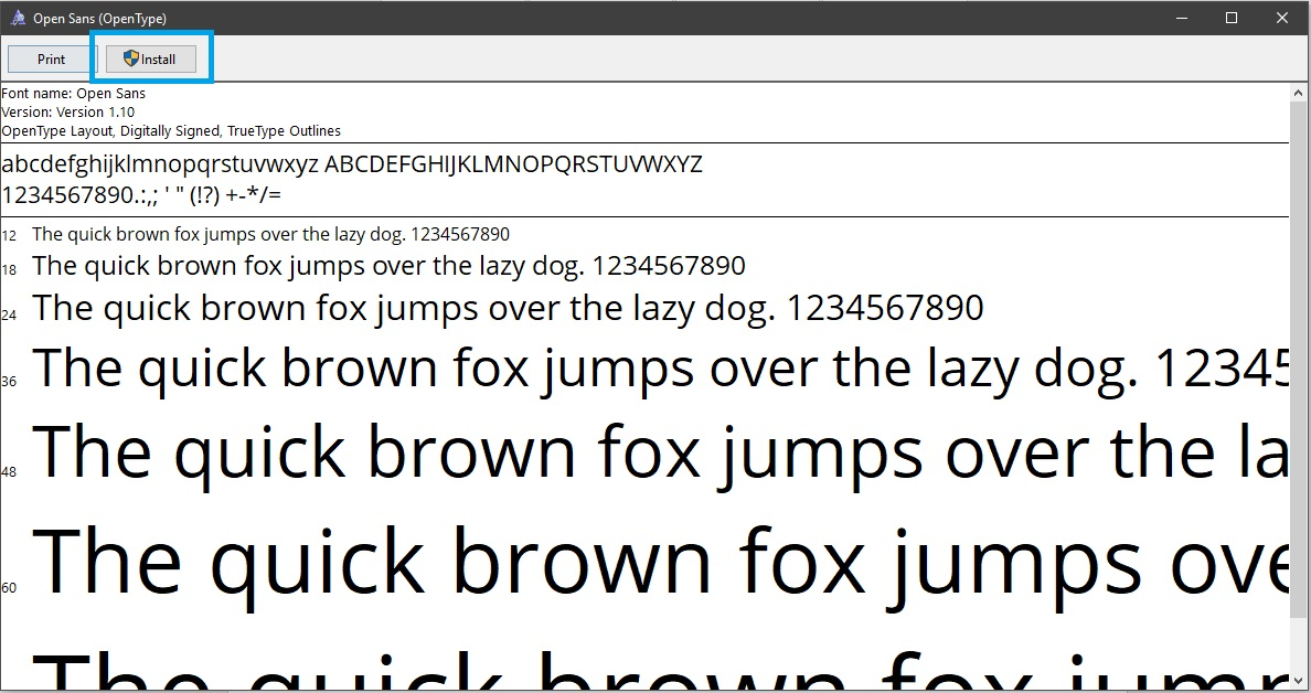 3-4 - How to install fonts in Photoshop