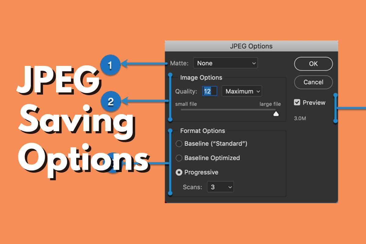 Cover - JPEG Save Options Explained - Photoshop