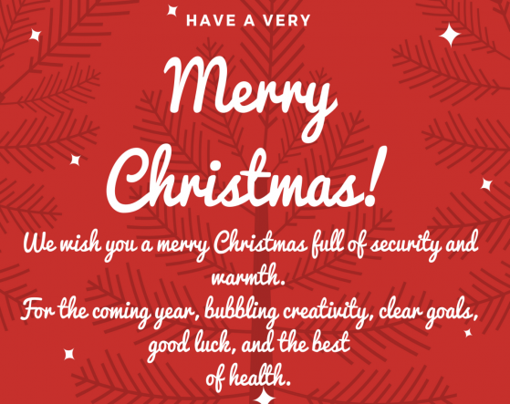 We wish you a merry Christmas full of security and warmth. For the coming year, bubbling creativity, clear goals, good luck, and the best of health..png
